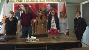 AK Partili kadınlardan ilçelere ziyaret