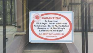 Kocaeli'de 8 korona virüs pozitif vaka bulunan apartman karantinaya alındı