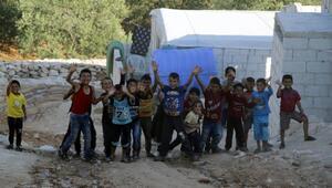 Türkiye'den gönderilen briketler Suriyeli sivillere çatı oldu