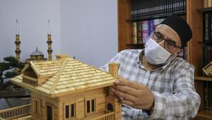 4 bin 500 kürdanla 3 boyutlu ev yaptı