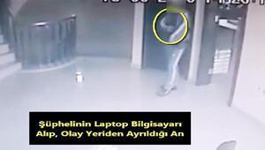 Kameradan belirlenen bilgisayar hırsızlığı şüphelisi yakalandı