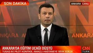 Ankarada düşen eğitim uçağıyla ilgili TUSAŞtan açıklama: İki pilotumuz kurtuldu