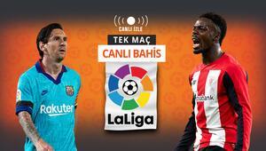 Real Madride liderliği kaptıran Barcelona, Bilbao karşısında Galibiyetlerine iddaada...