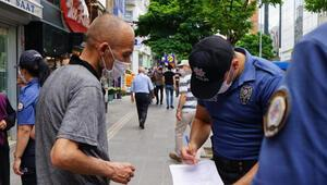 Kırıkkalede polisten maske denetimi