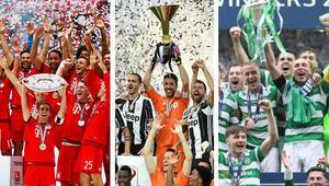 Avrupa futbolunun seri şampiyonları Bayern, Juventus, Celtic...