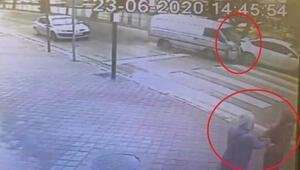 Anne ile kızı kazadan saniyelerle kurtuldu