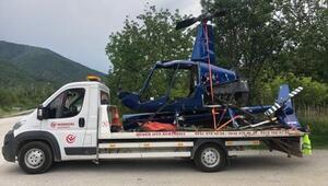 Helikopter enkazı 8 yıl sonra kaldırıldı