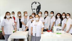Günlük 2 bin 500 maske üretiliyor