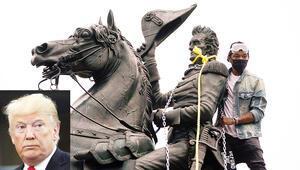 Washington karıştı, Trump tehdit etti; heykel yıkana 10 yıl hapis