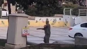 Balçova Belediyesi önünde dehşet anları kamerada