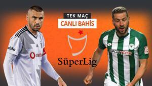 Beşiktaşın konuğu Konyaspor, şok sakatlıkla sarsıldılar Galibiyetlerine iddaada...