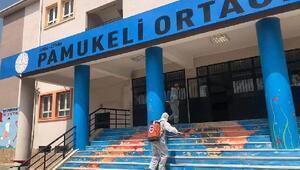 Ceyhanda okullar YKS için dezenfekte edildi