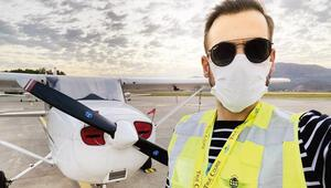 Ümit Erdim, pilot oluyor