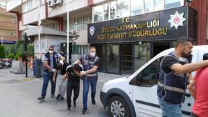 Silahla tehdit ettikleri kişilerin paralarını gasp eden 4 kişi yakalandı