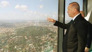 Cumhurbaşkanı Erdoğan, yapımı devam eden Çamlıca Kulesini inceledi