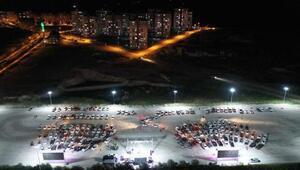 Nevşehirde Arabada Sinema etkinlikleri sürüyor