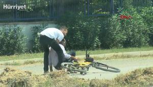 Bisikletli dolandırıcı anbean DHA kamerasına yakalandı