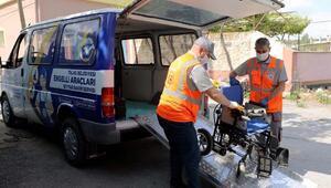 Talasta engelli vatandaşların araçları bakımdan geçiriliyor