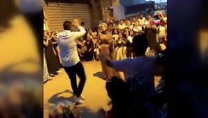 İstanbulda manzara yine değişmedi Bağcılarda onlarca kişi nişan için bir araya geldi