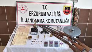 Erzurumda kaçak kazıya 1 tutuklama