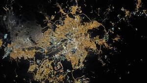 NASA'nın gözünden Ankara'da gece