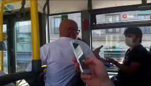 Otobüste maske tartışması kamerada