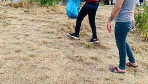Gercüşte doğaseverler çöp topladı