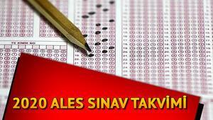 ALES sınavı başvuru tarihleri: ALES 2020 ne zaman