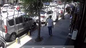 Güngörende kapkaççıları durduran esnaf kamerada