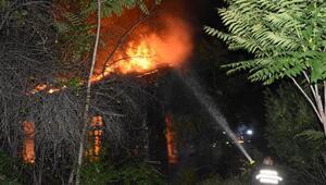 Metruk binada çıkan yangını itfaiye söndürdü