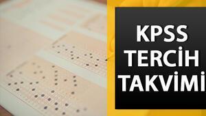 KPSS tercihleri ne zaman KPSS-2020/1 tercih tarihi belli oldu