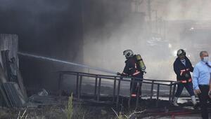 Boya deposunda korkutan yangın