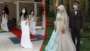 Yasak kalktı, sosyal mesafeli düğünler başladı