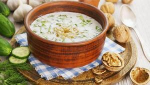 Yaz aylarında soğuk çorba için