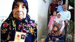 95 yaşında torununun torununu gördü