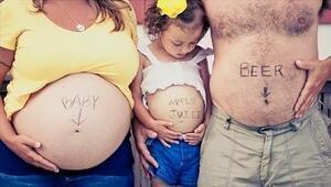 En yaratıcı ve eğlenceli hamilelik fotoğrafları