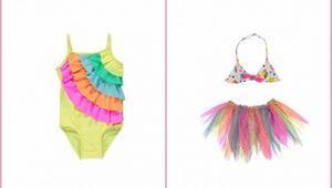 En renkli ve tarz çocuklara özel bikini/mayo modelleri
