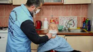 Akdenizde evde bakım ve temizlik hizmeti sürüyor