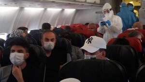 Uçakta koronavirüs paniği Diyarbakırdan Ankaraya gidiyorlardı...
