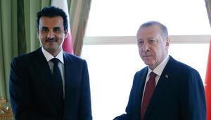 Son dakika haberi: Cumhurbaşkanı Recep Tayyip Erdoğan, Katar Emiri Şeyh Temim bin Hamed Al Sani ile görüştü