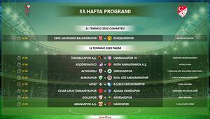 TFF 1. Ligde 33. hafta programı açıklandı
