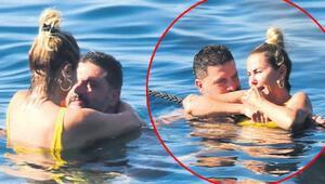 Ece Erken ve sevgilisi Şafak Mahmutyazıcıoğlu tatilde