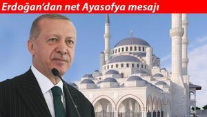 Son dakika haberler... Cumhurbaşkanı Erdoğan: Ayasofya ithamları egemenlik haklarımıza saldırı amacı taşıyor