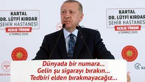 Son dakika haberler... Cumhurbaşkanı Erdoğan: Valime de söyledim, olduğu anda toparlayın götürün