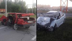 Sivasta feci kaza 2 ölü, 2 ağır yaralı
