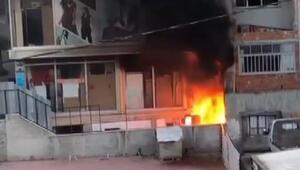 Arnavutköyde mobilya imalathanesinde korkutan yangın