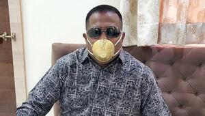 İzlediği videodan sonra aklına geldi 4 bin dolara altın maske yaptırdı