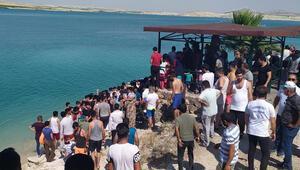 Baraj gölüne giren Suriyeli, boğuldu