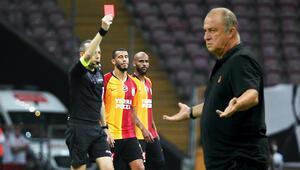 Son Dakika | Galatasaray-Trabzonspor maçında kırmızı kart Feghouliye tepki büyük...