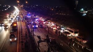 Son dakika haberi: TEM'de yolcu otobüsü devrildi Ölü ve yaralılar var